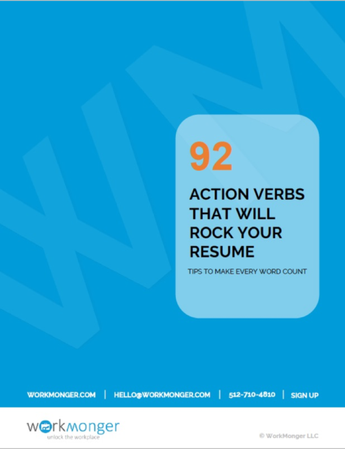 92 Action Verbs Cover